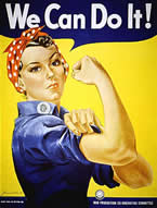 women's empowerment - we can do it poster