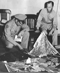 roswell ufo incedent debris