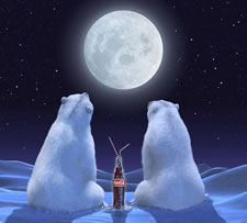 polar bears coke moon